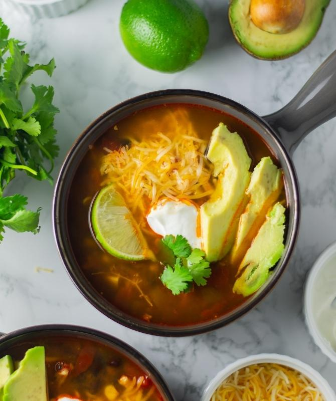 How to make instant Pot Chicken Tortilla Soup
