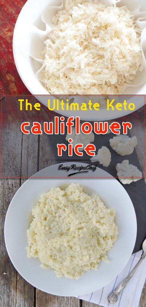 The Ultimate Keto cauliflower rice
