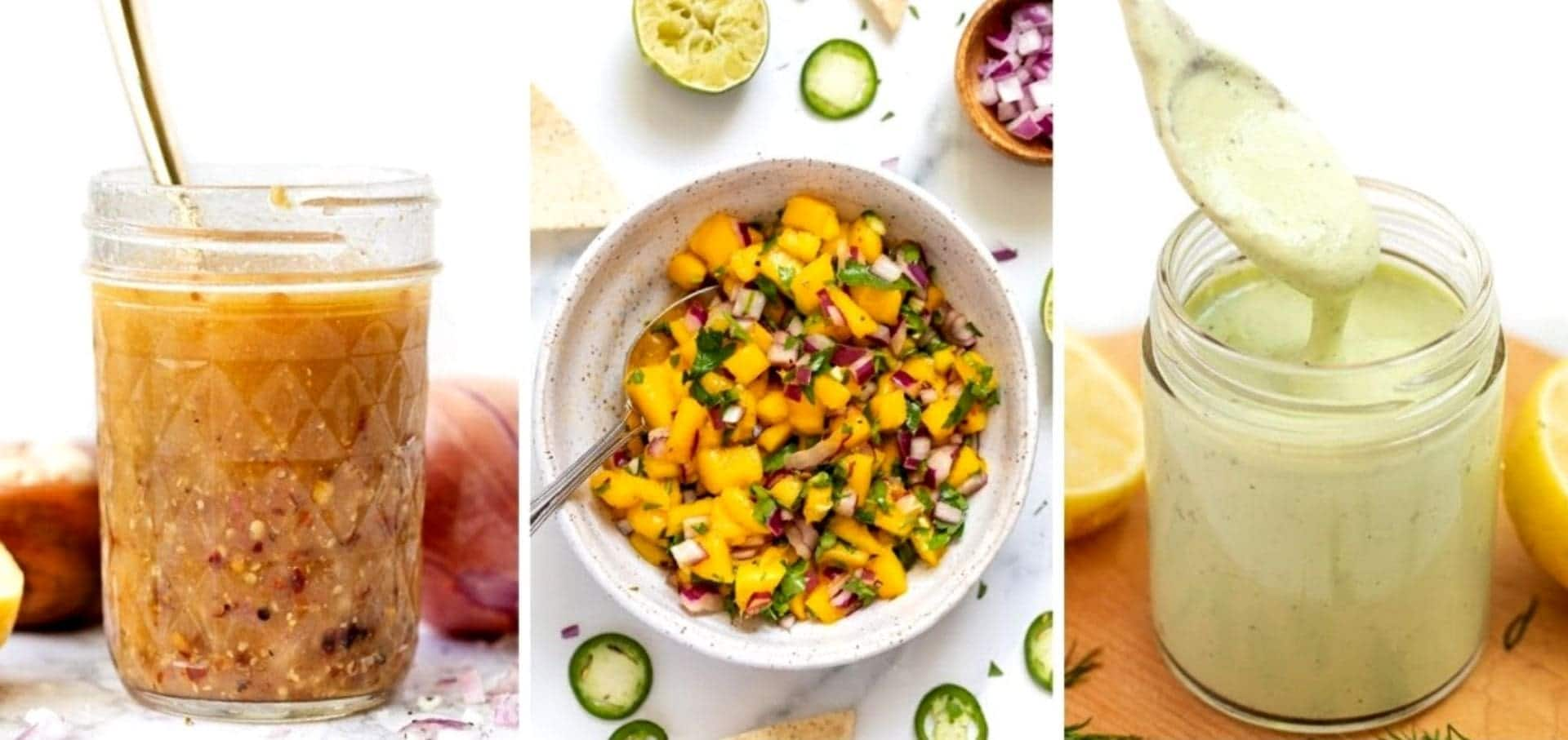 3 healthy condiments for all types of meals