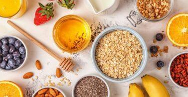 Healthy Mediterranean breakfast